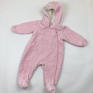Nordstrom Baby Girl Velour Bunting 9 months